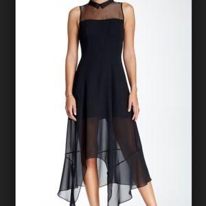 NWT BCBGeneration black sleeveless asymm dress